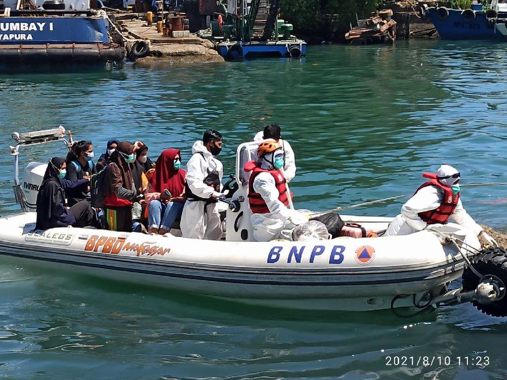 Isoman Selama Sepekan di Kapal, 43 Warga Makassar Boleh Pulang Hari Ini