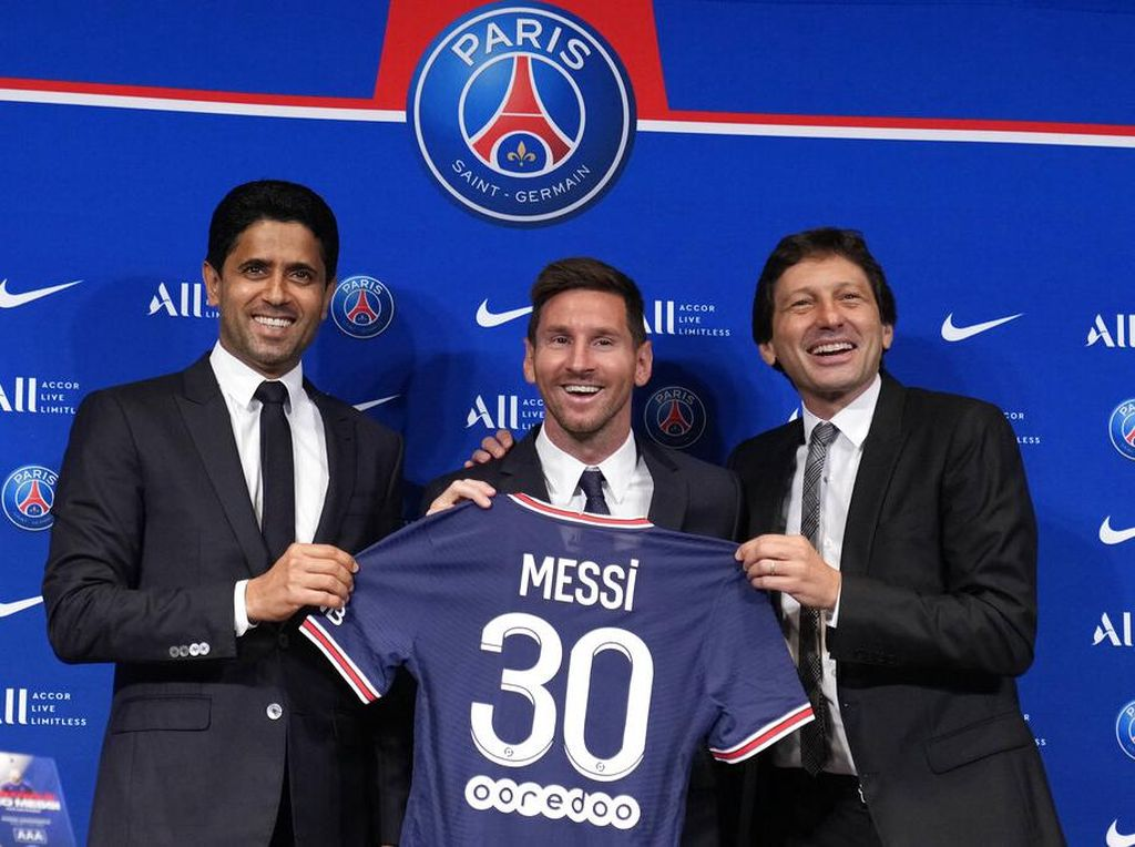 Presiden Barcelona: Messi Tampak Bahagia di PSG