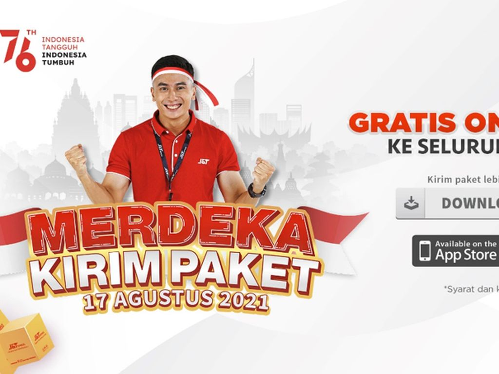 Rayakan HUT RI, J&T Express Gratis Ongkir ke Seluruh Indonesia