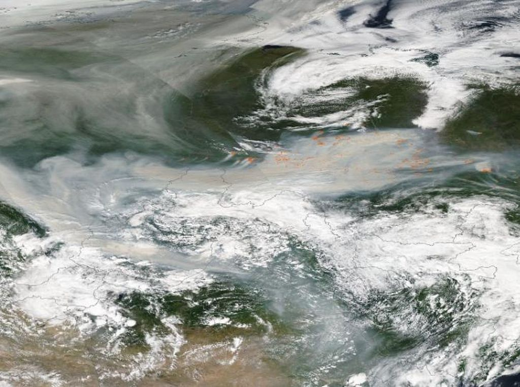 Mengerikan, Asap Kebakaran di Siberia Sambangi Kutub Utara