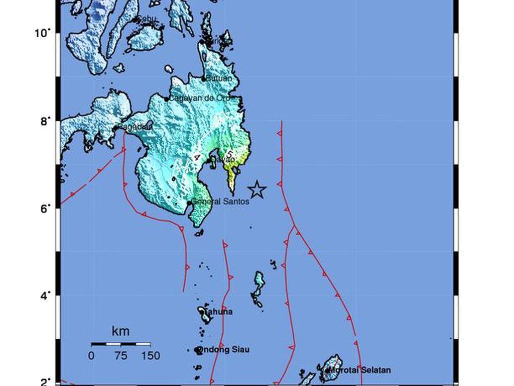 Ini Pusat Gempa M 7,1, Letaknya Dekat Filipina