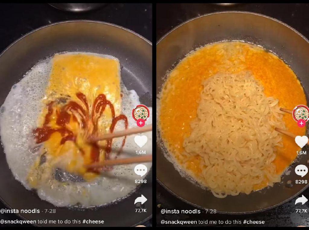 Viral di TikTok, Cara Masak Mie Instan Keju yang Creamy Pedas