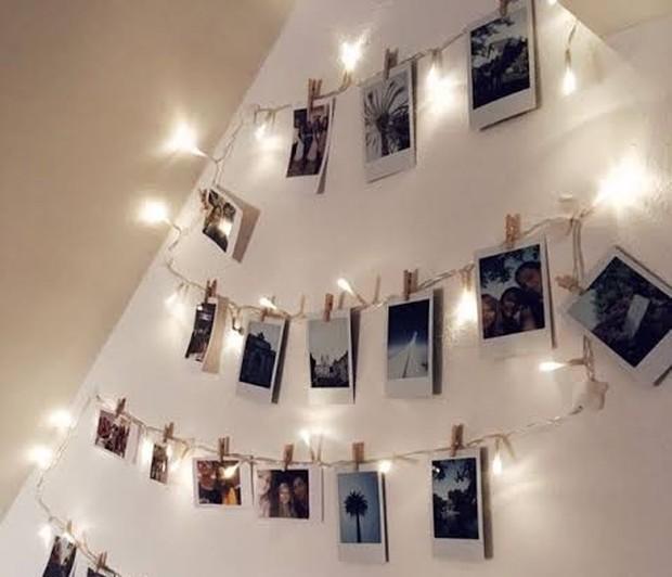 Kolase foto untuk dekorasi kamar ala minimalist/Foto: pinterest.com