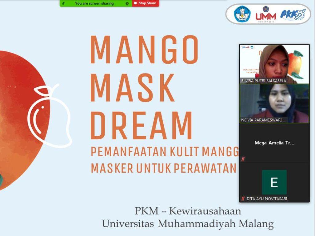 Mahasiswa UMM Manfaatkan Limbah Mangga Jadi Masker Wajah
