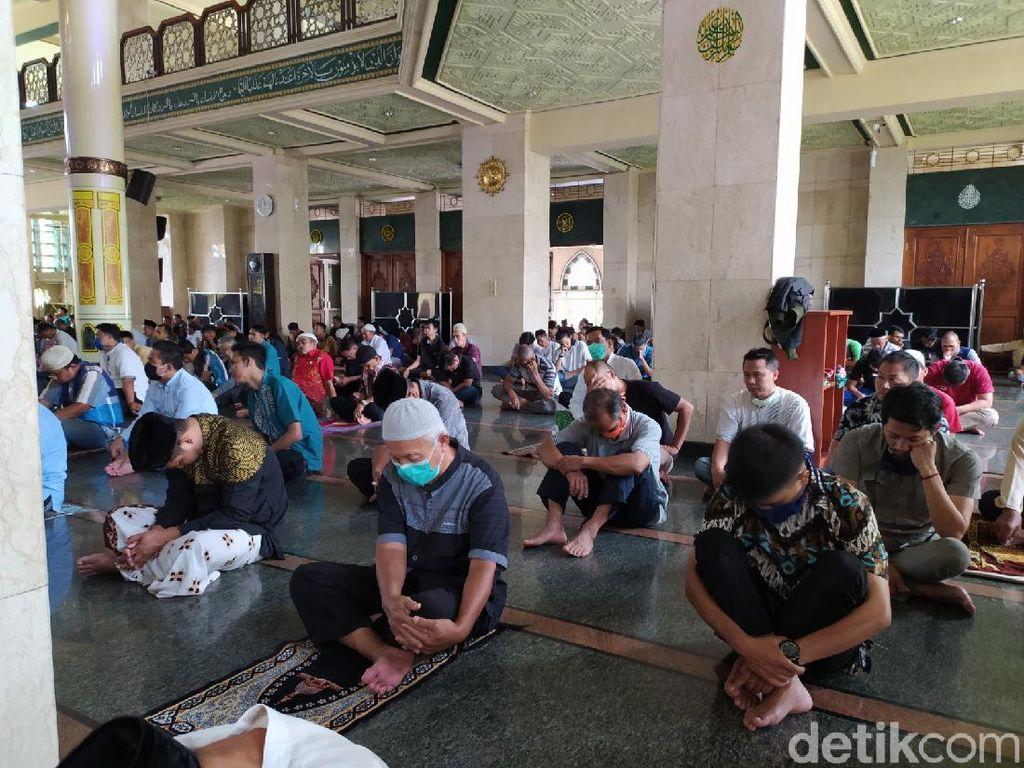 PPKM Level 3, Masjid di Ciamis Gelar Salat Jumat Satu Gelombang