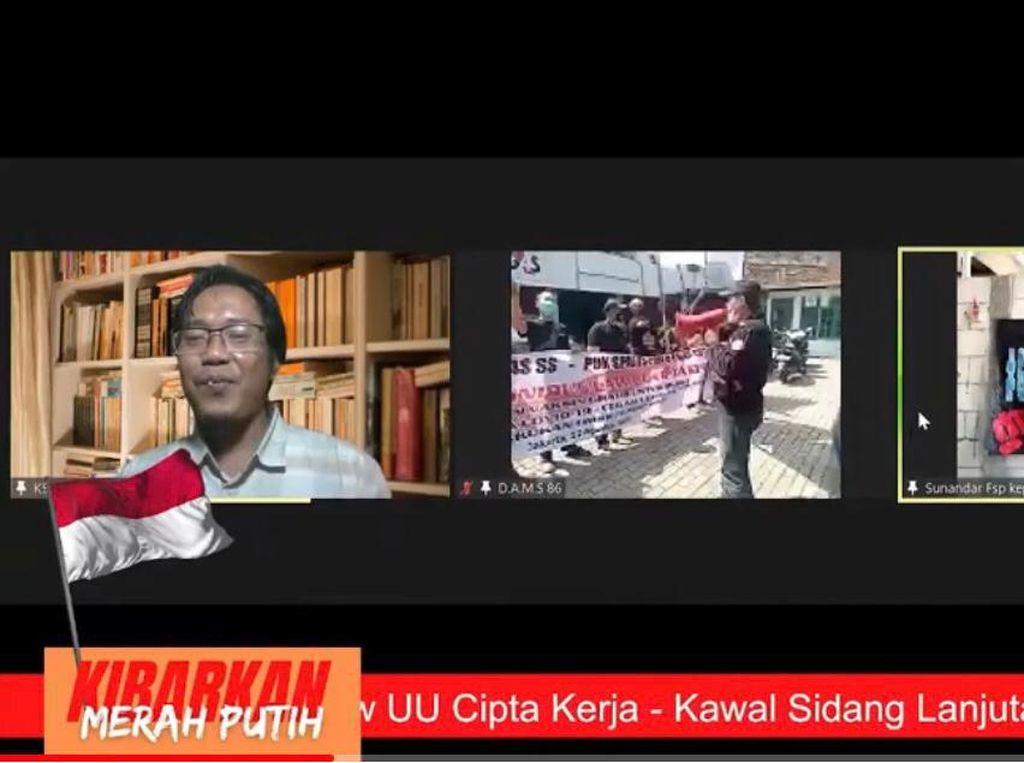 Serikat Buruh Gelar Demo Virtual di Tengah Pandemi, Polisi Beri Apresiasi