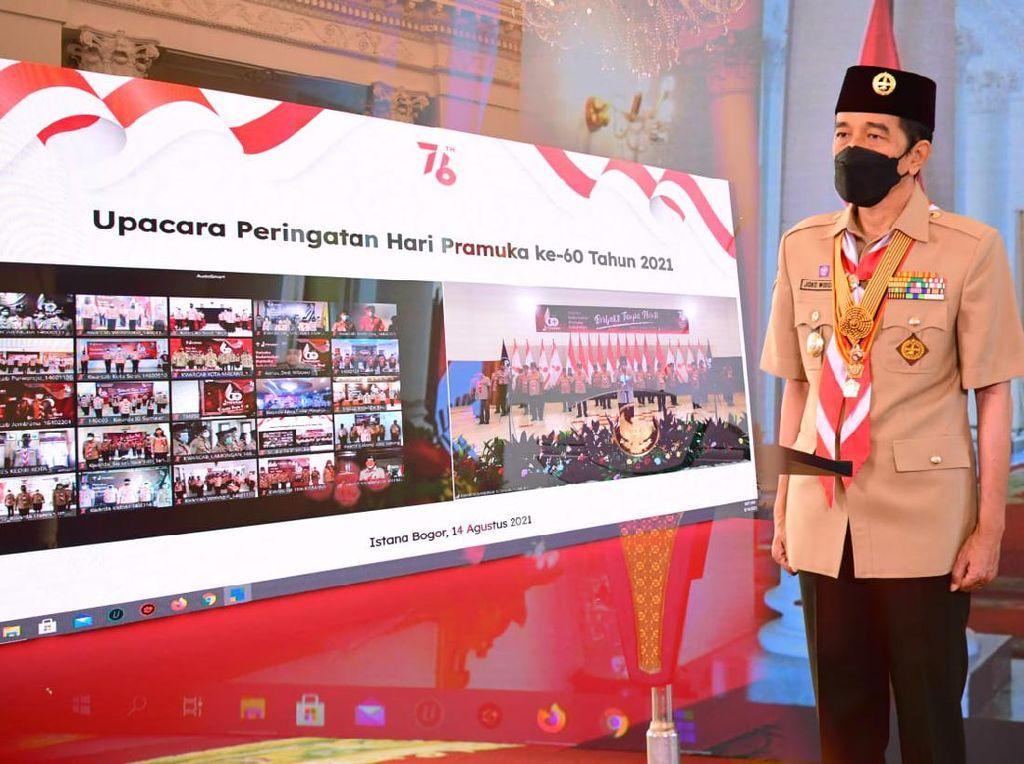 Jokowi: Pramuka Indonesia Harus Jadi Pelopor Kedisiplinan Prokes