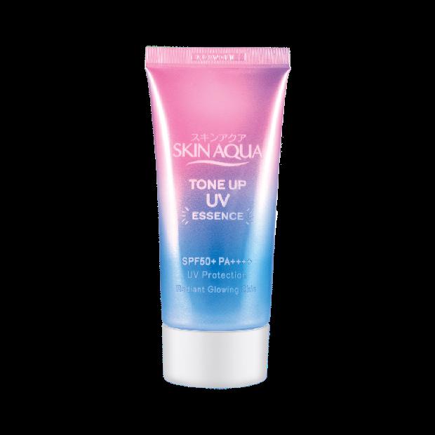 Skin Aqua UV Tone UP Essence merupakan sunscreen sekaligus base make up yang memiliki SPF 50+ dan PA++++