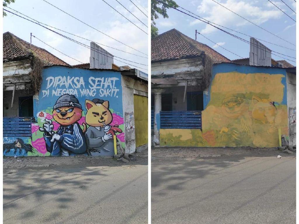 Siapa yang Hapus Mural Dipaksa Sehat di Negara yang Sakit di Pasuruan?