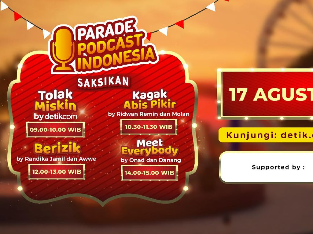 Serunya Obrolan Podcast Berizik Ramaikan Parade 17an Detikcom