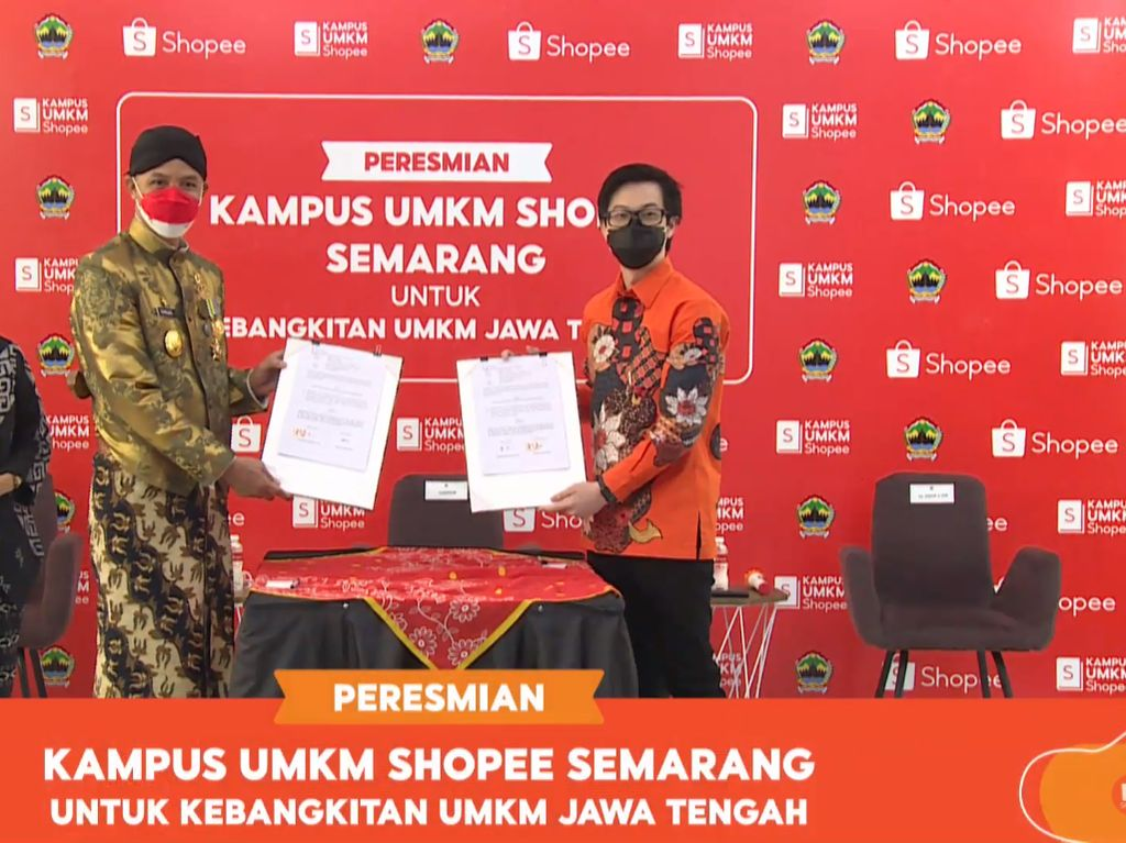 Kampus UMKM Shopee Semarang Dibuka, Targetkan 700.000 UMKM Go Digital