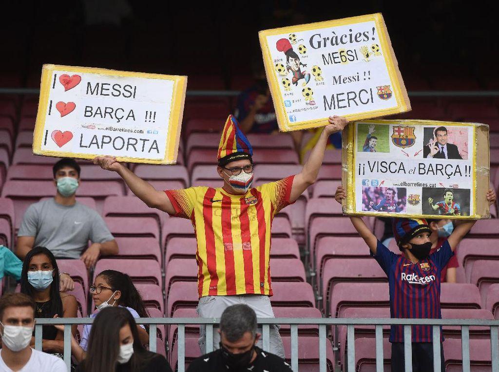 Lionel Messi Masih Menggema di Tribune Camp Nou