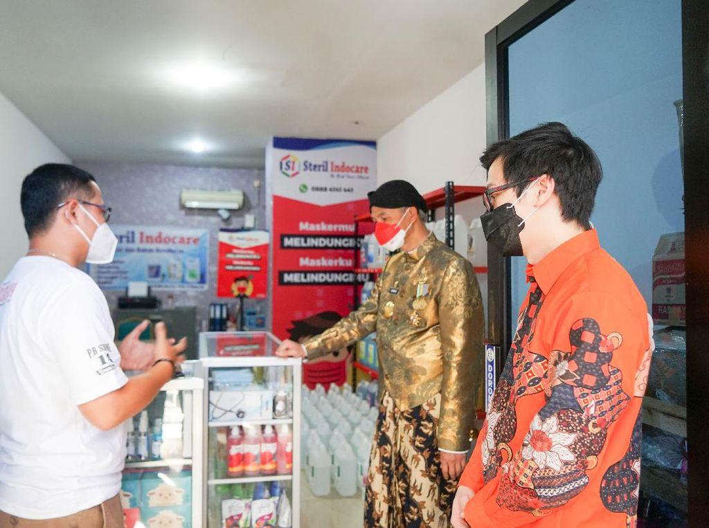 Dengar Curhat Pelaku UMKM, Gubernur Jateng Beri Solusi Bareng Shopee