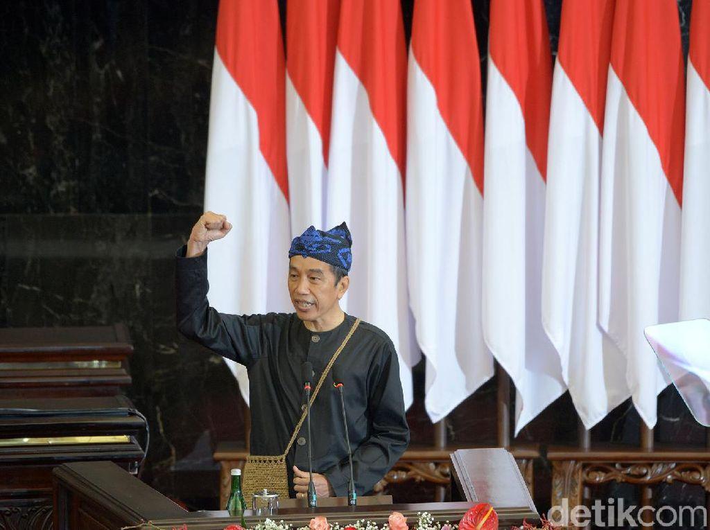 Mantul, Gaya Jokowi Berbaju Adat Baduy di Pidato Kenegaraan