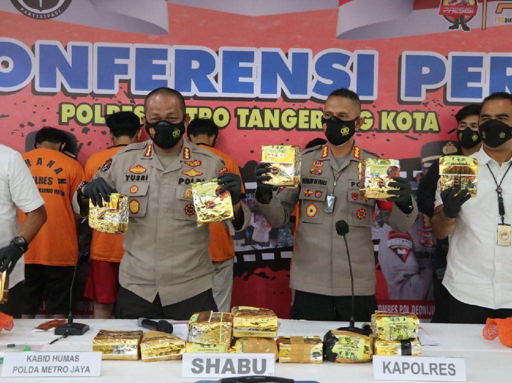 Polisi Gagalkan Pengiriman 18,7 Kg Sabu ke Tangerang yang Dikendalikan Napi