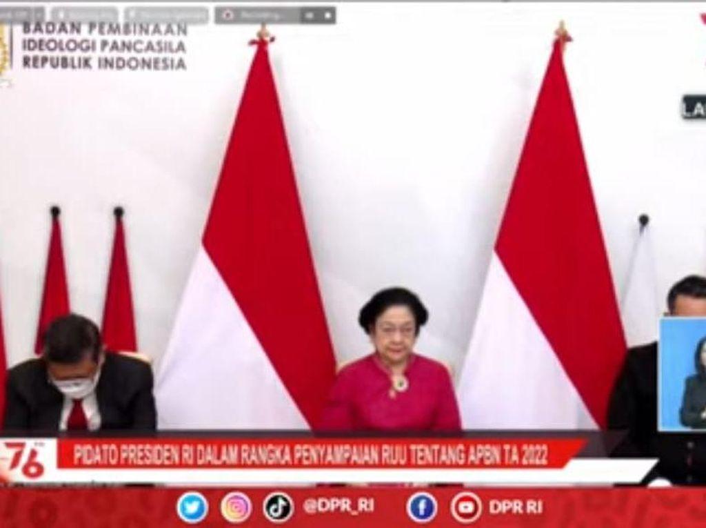Megawati Hadiri Sidang Tahunan MPR 2021 Secara Virtual