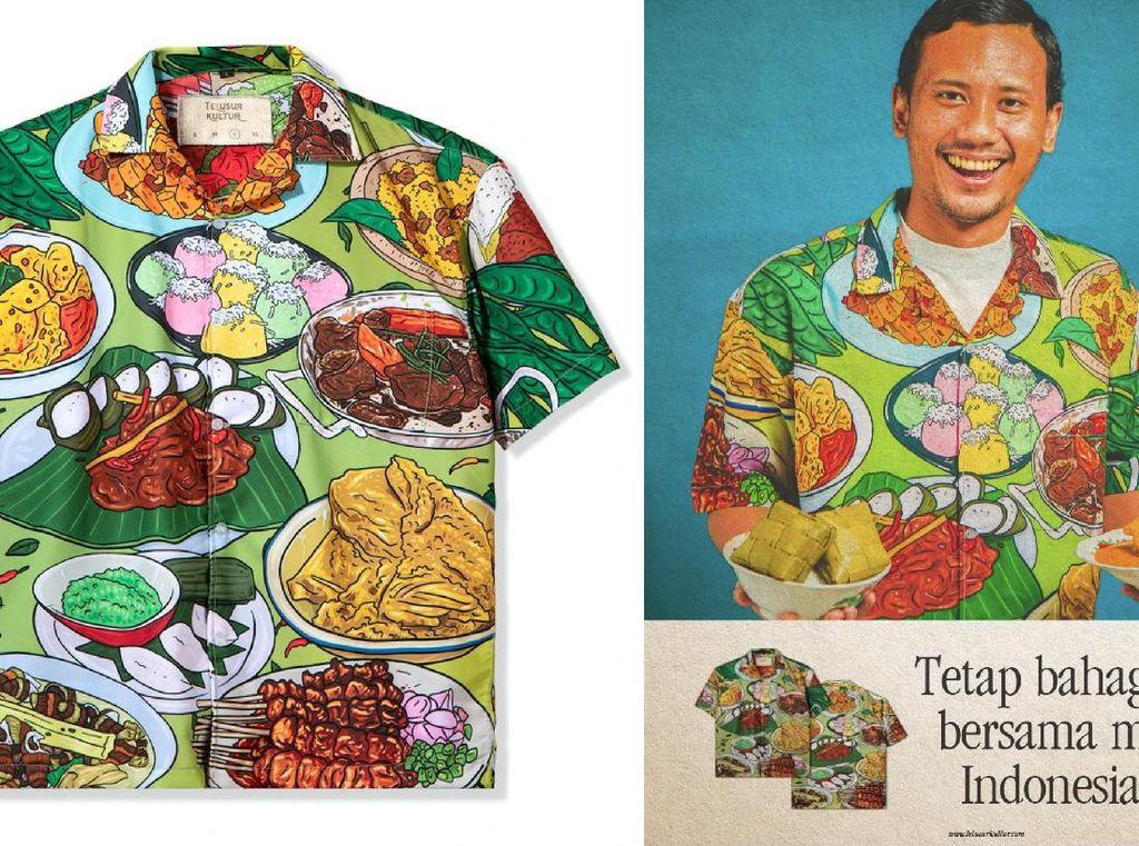 Keren! Telusur Kultur Bantu UMKM Lewat Kemeja Makanan Nusantara