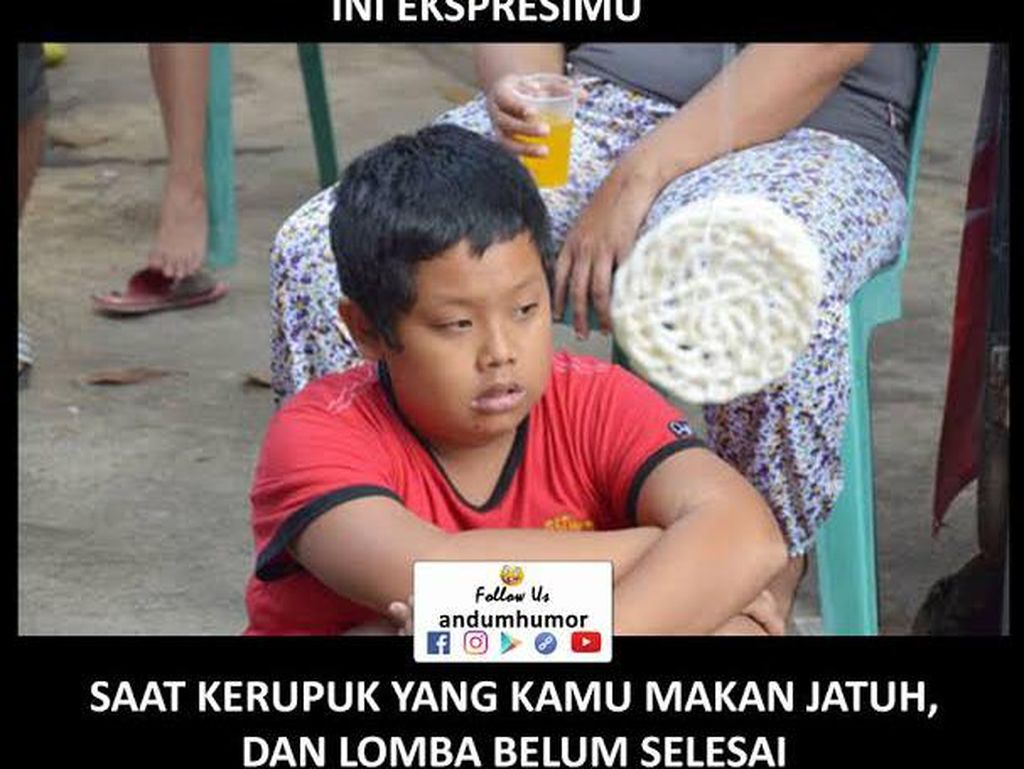 Meme Kocak Lomba Makan Kerupuk yang Bikin Kangen 17 Agustusan