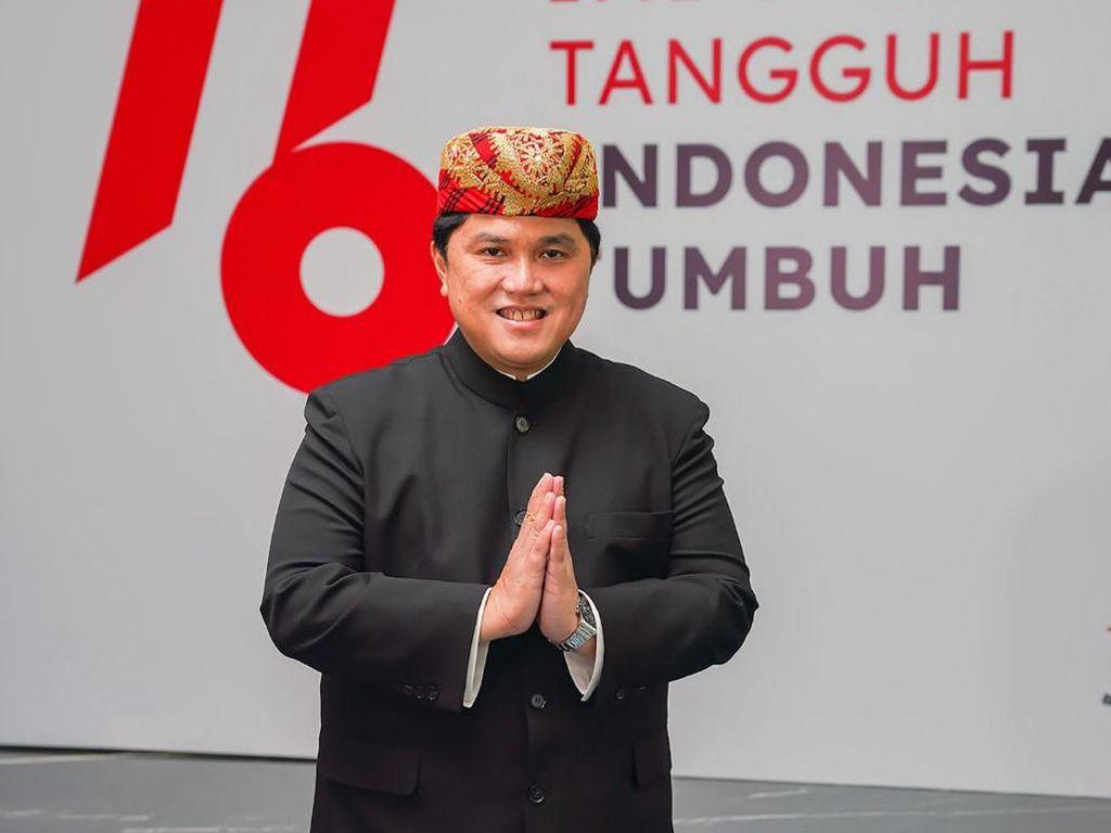 17-an Pakai Baju Adat Lampung, Erick Thohir Kenang Sang Ayah