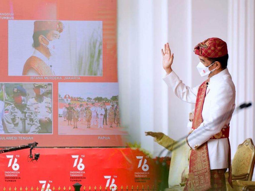 Momen Jokowi Sapa Warga Poso dan Merauke Via Daring Saat HUT Ke-76 RI