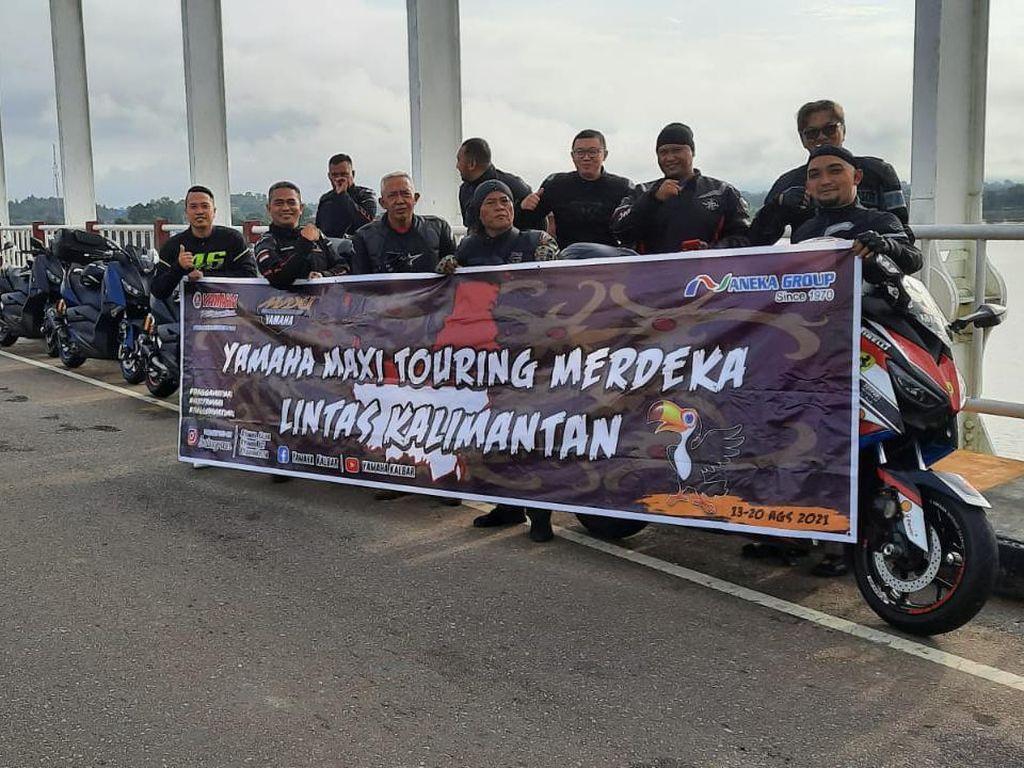 Gaya Komunitas MAXI Yamaha Rayakan HUT ke-76 RI, Panaskan Aspal Hingga 4.000 Km