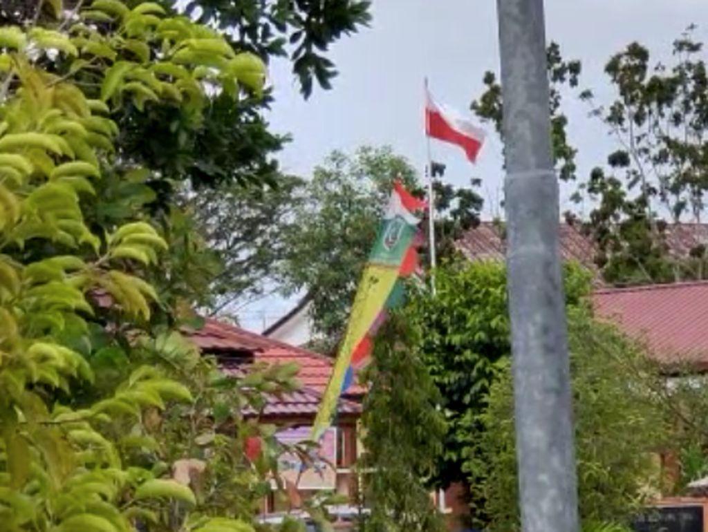 Tak Cuma di Aceh, Merah Putih Juga Dipasang Terbalik di Kantor Disdik Beltim