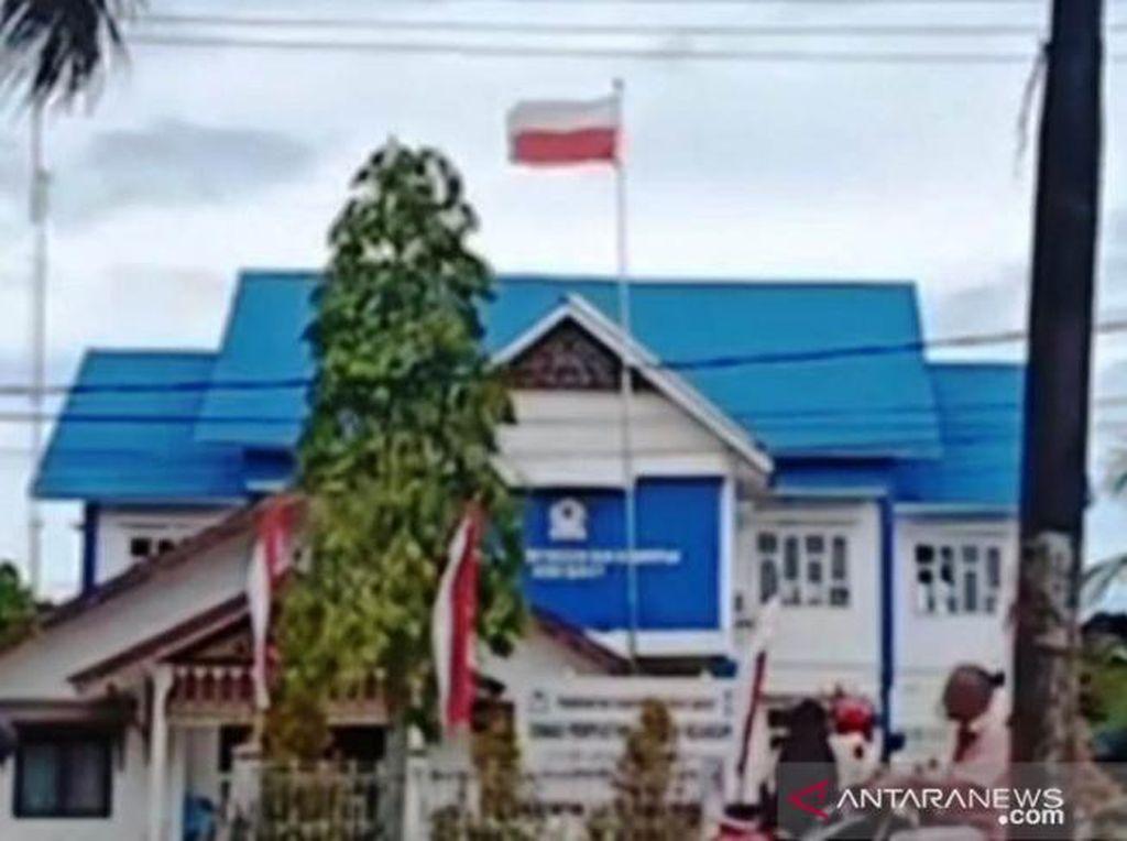 Viral Bendera Merah Putih Terbalik, Pemkab Aceh Barat: Petugasnya Ngantuk