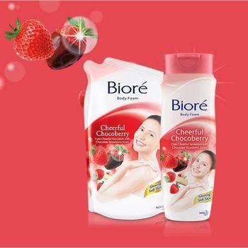 Biore Body Foam Cheerfull Chocoberry