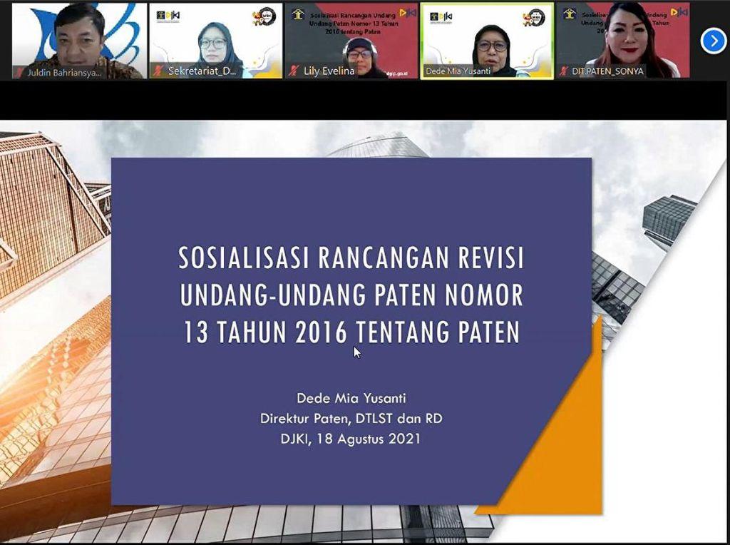DJKI Sosialisasikan Rancangan Revisi UU Paten kepada Stakeholders