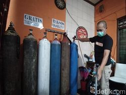 Pasutri di Magelang Ini Sediakan Pengisian Tabung Oksigen Gratis