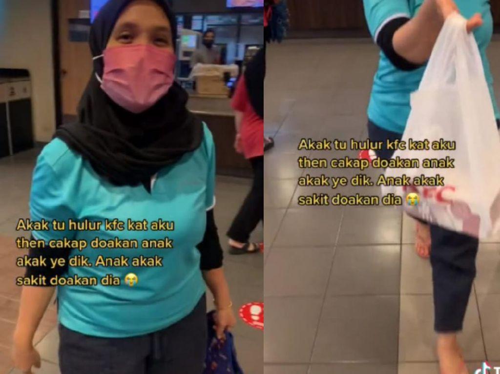 Wanita ini Traktir Kurir Makanan di KFC dan Minta Doa untuk Anaknya