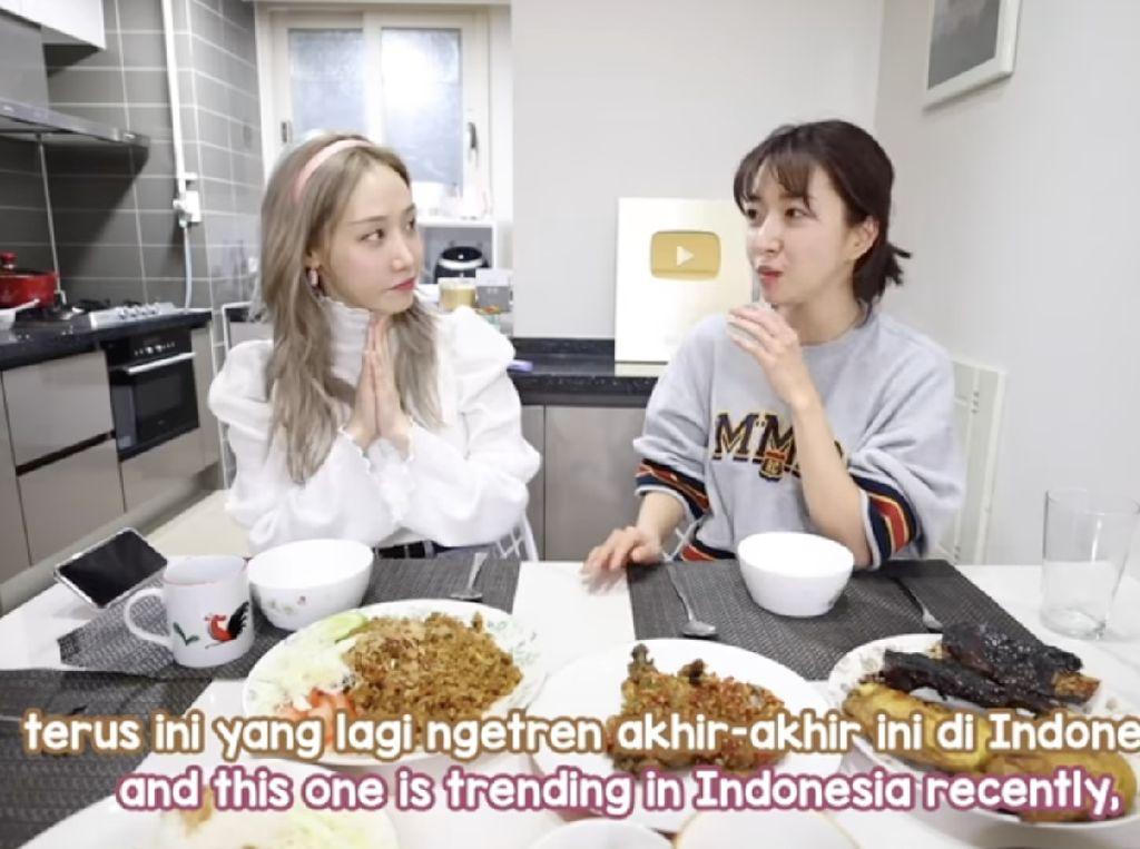 5 Momen Sunny Dahye Cicip Makanan Indonesia Bareng Orang Korea