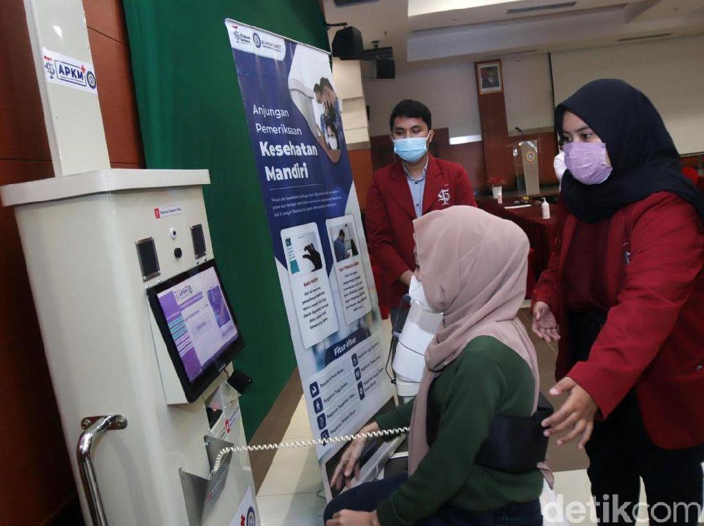 Ini Anjungan Pemeriksaan Kesehatan Mandiri yang Siap Bantu Nakes RS Unair