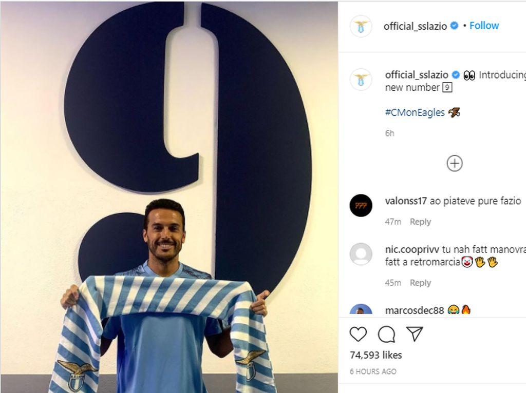 Dibuang AS Roma, Pedro Merapat ke Lazio