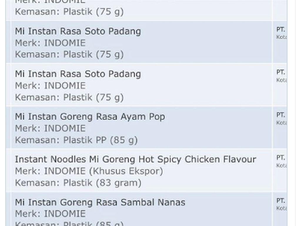 Iseng Cek BPOM, Netizen Ini Temukan Indomie Goreng Rasa Sambal Mangga