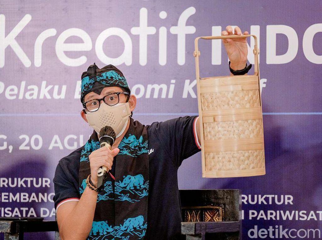 Kunjungi Pandeglang, Sandiaga Uno Dorong Produk Ekraf Mendunia
