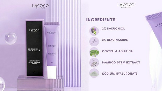Lacoco 5% Bakuchiol Night Cream | Foto : instagram/lacoco.id