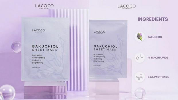 Lacoco Bakuchiol Sheet Mask | Foto : instagram/lacoco.id