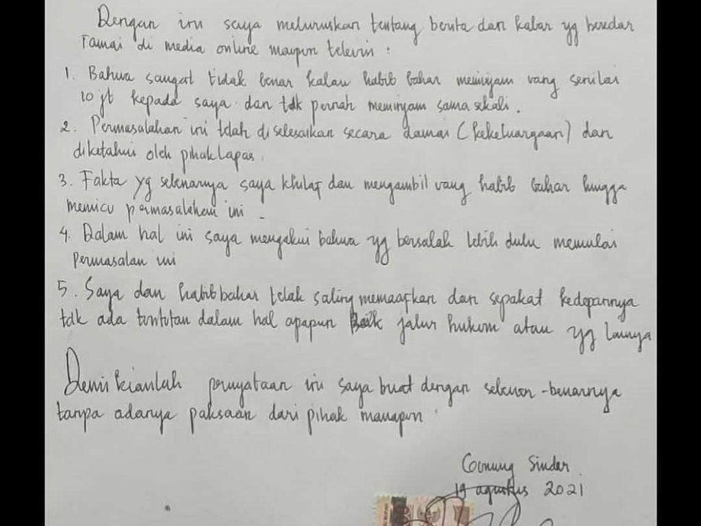 Beredar Surat Klarifikasi Ryan Jombang soal Insiden dengan Habib Bahar