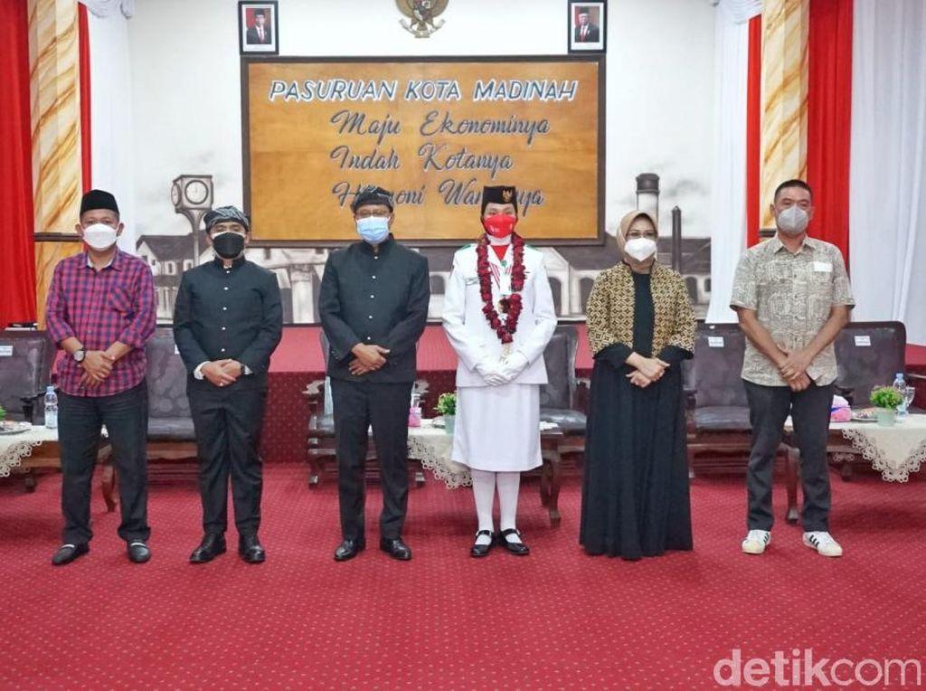 Gus Ipul Sambut Anggota Paskibraka Nasional Perwakilan Kota Pasuruan