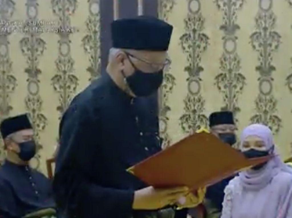 Momen Pengambilan Sumpah PM Baru Malaysia Ismail Sabri Yaakob
