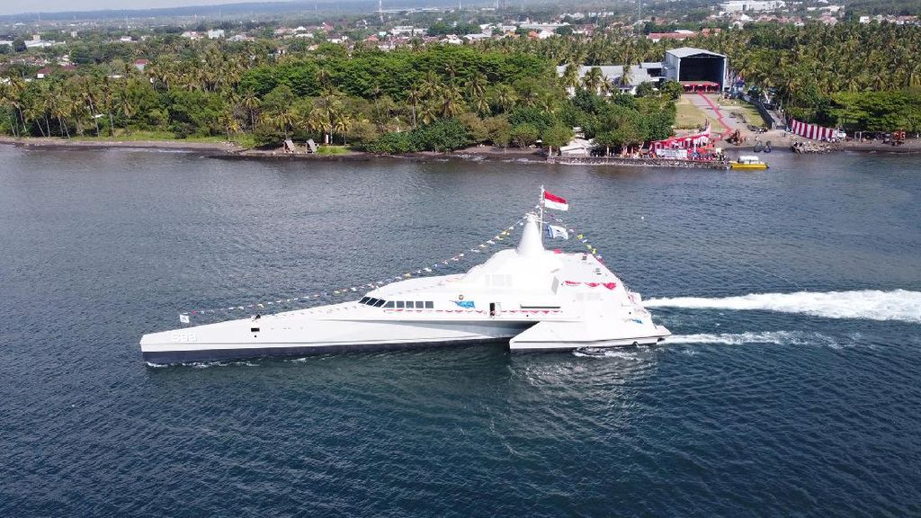 Ini KRI Golok-668, Kapal Perang Siluman Terbaru TNI-AL