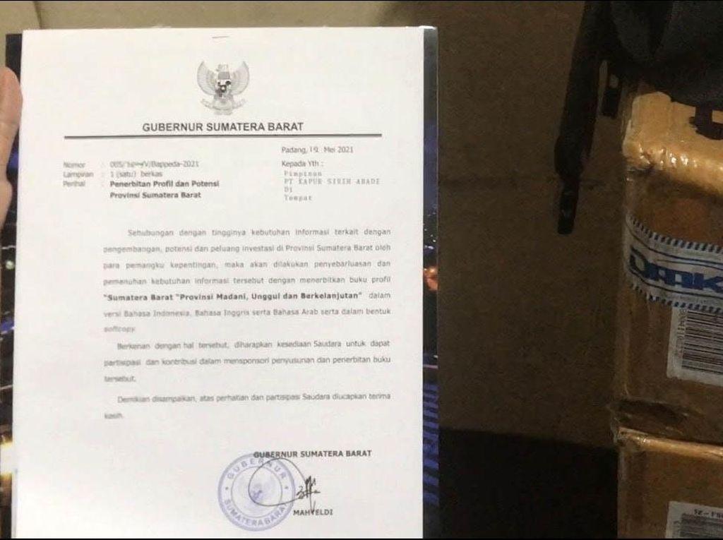 Polisi Periksa Sekda-Orang Dekat Gubernur Sumbar soal Surat Minta Sumbangan