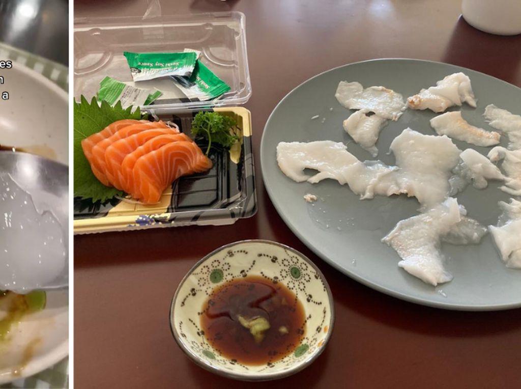 Unik! Kelapa Dicocol Shoyu dan Wasabi, Rasanya Kayak Sashimi