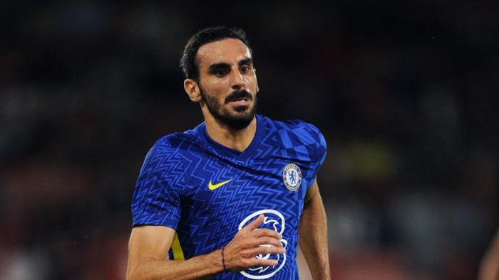 BOURNEMOUTH, ENGLAND - JULY 27: Davide Zappacosta of Chelsea runs off the ball during the Pre-Season Friendly match between AFC Bournemouth and Chelsea at Vitality Stadium on July 27, 2021 in Bournemouth, England. (Photo by Alex Burstow/Getty Images)