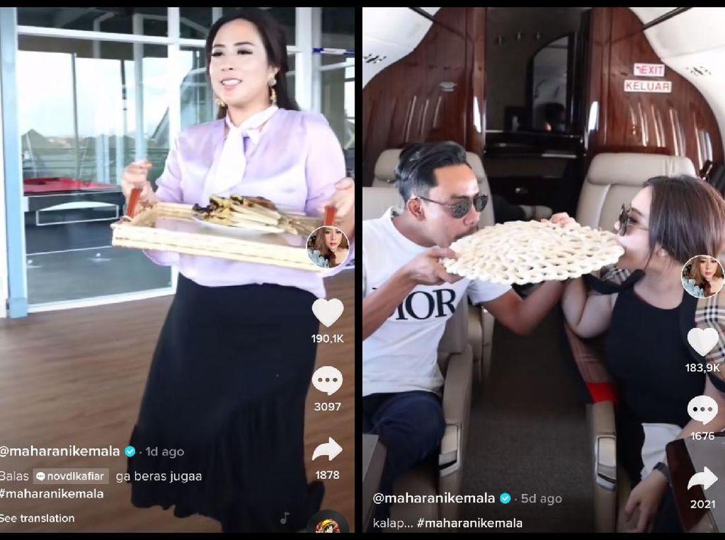 Maharani Kemala Pakai Nampan Hermes Rp 15 Juta dan Makan Kerupuk Kanji di Private Jet