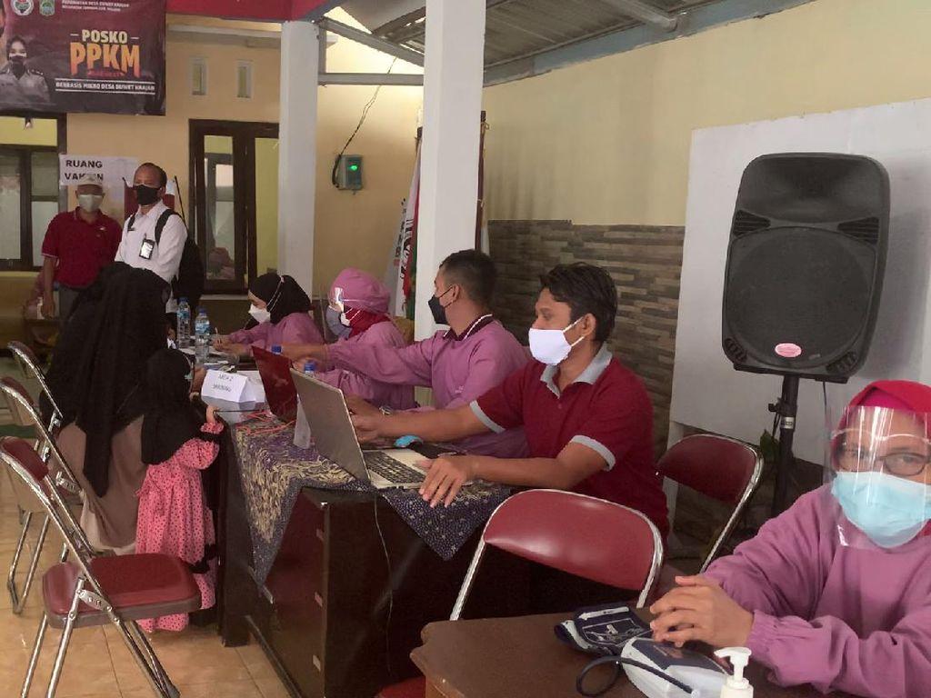 Eks Napiter di Malang dan Keluarganya Jalani Vaksinasi