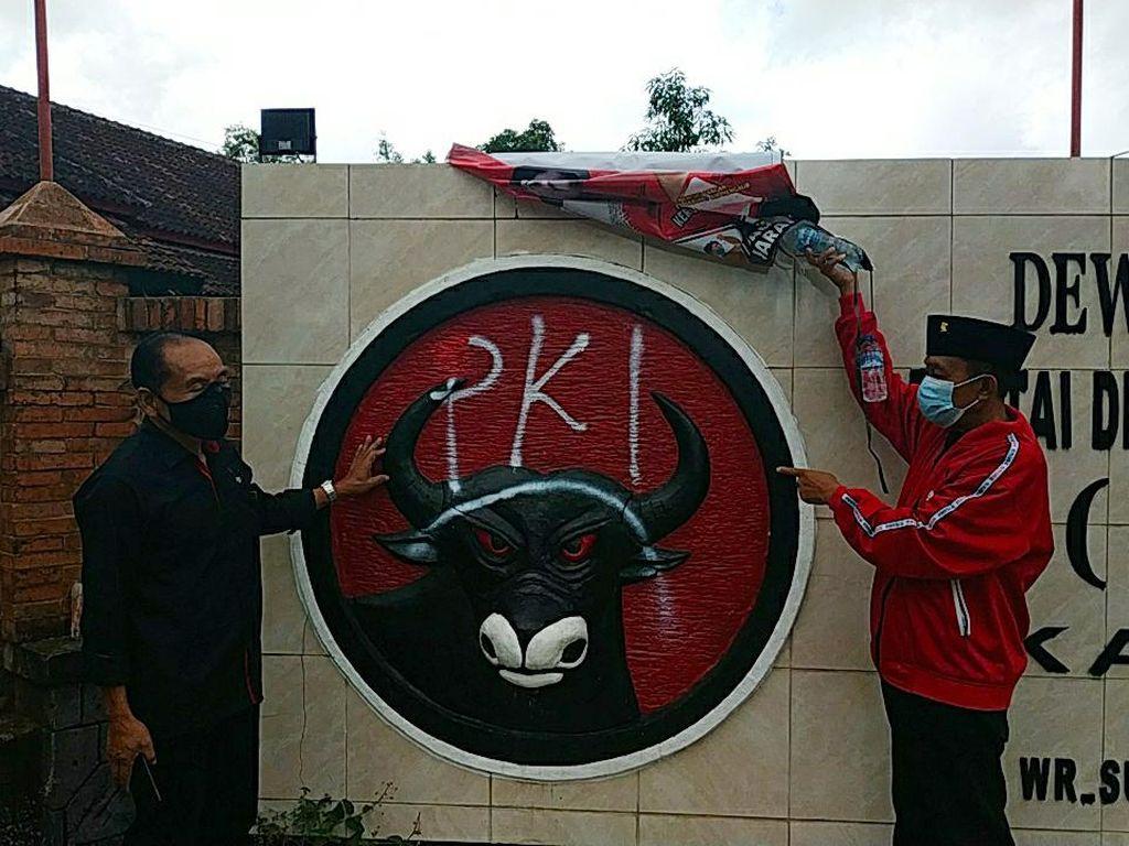 PDIP Pacitan Investigasi soal Vandalisme Lambang Partai Dicoreti PKI