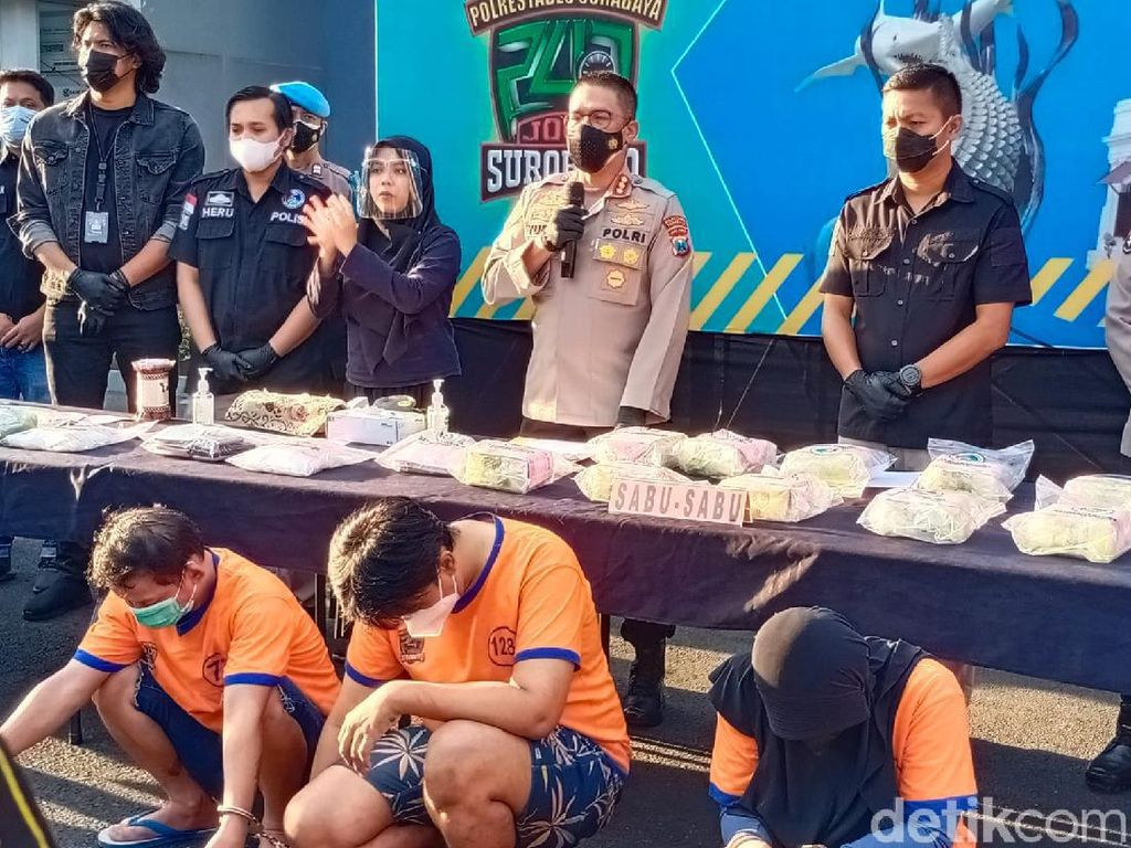 13 Kg Sabu Diamankan dari 3 Kurir di Surabaya