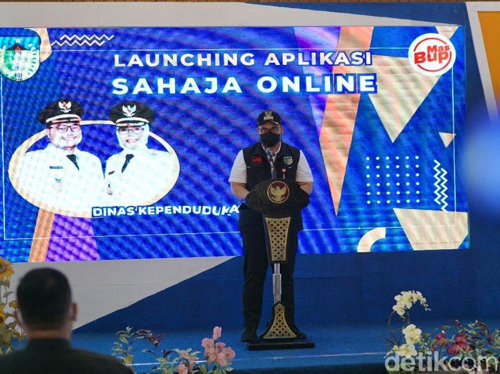 Bupati Kediri Launching Sahaja Online, Urus Layanan Kini Jadi Mudah